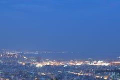 Pireaus och Aten Grekland, skyview Arkivbilder