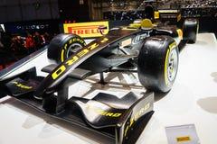 PIRELLI F1 samochód, Motorowy przedstawienie Geneve 2015 Zdjęcia Stock