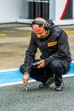 Pirelli-Ingenieur stockfotos