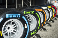 Pirelli-Reifen Lizenzfreie Stockfotos