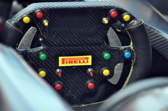 Pirelli Steering Wheel Stock Photography