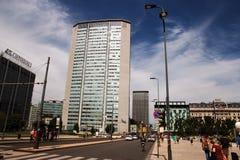 Pirellone grattacielo Pirelli i Milan Fotografering för Bildbyråer