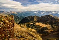 Pirenei in autunno, Andorra Fotografia Stock Libera da Diritti