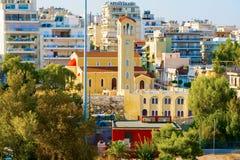 Pireus, porto vicino ad Atene in Grecia fotografia stock