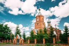 Pirevichi-Dorf, Zhlobin-Bezirk von Gomel-Region von Weißrussland lizenzfreies stockbild