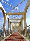 Pirgo码头的远景  免版税库存照片