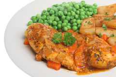 Piri Piri Chicken Breast Dinner royalty free stock photo