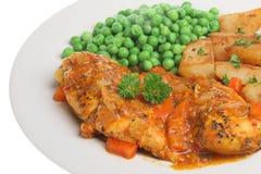 Piri Piri Chicken Breast Dinner Royalty Free Stock Photo