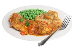 Piri Piri Chicken Dinner Royalty Free Stock Photos