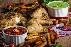 Piri piri spicy chicken Royalty Free Stock Photos
