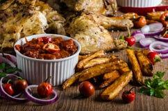 Piri piri spicy chicken Stock Image