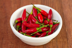 Piri-piri in white bowl Royalty Free Stock Images