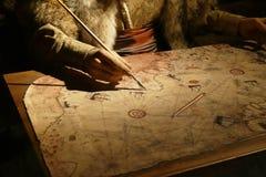 Free Piri Reis Cartographer Drawing A Map Stock Image - 147038571