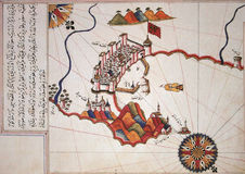 Piri Reis map Stock Photo