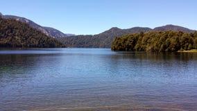 Pirihueico jezioro na Portowym Fuy, Chile - Zdjęcia Royalty Free