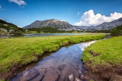 Pirin山在夏天 库存图片