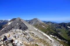 Pirin山, Vihren峰顶@ Koncheto土坎 免版税库存照片