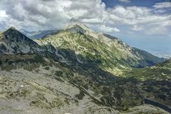 Pirin 15.1. A beautiful high mountain landscape from Pirin mountain in Bulgaria Royalty Free Stock Photos