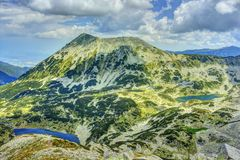 Pirin 16.3. A beautiful high mountain landscape with Todorka peak from Pirin mountain in Bulgaria Royalty Free Stock Photography