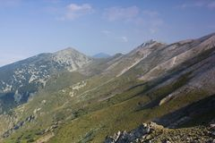 Pirin 2.2. A beautiful high mountain landscape from Pirin mountain in Bulgaria Royalty Free Stock Photo