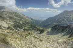 Pirin 50. A beautiful high mountain landscape from Pirin mountain in Bulgaria Royalty Free Stock Images