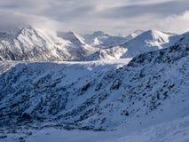 Pirin berg i vinter arkivfoton