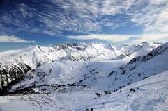 Pirin-Berg mit Schnee Lizenzfreies Stockfoto