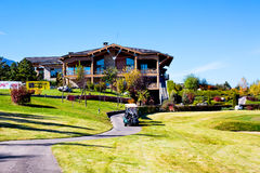 Pirin Golf Club house and restaurant, colorful Stock Photo