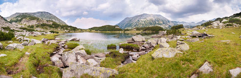 Pirin Mountain Lake Panorama Royalty Free Stock Image