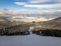 Pirin Mountain in Winter stock photography