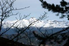 Pirineos schaute von der Straße stockfotografie
