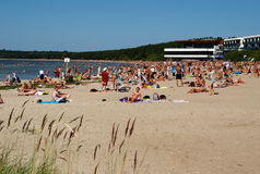 Pirita Beach  in Tallinn Royalty Free Stock Photography