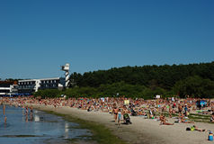 Pirita Beach  in Tallinn Stock Image