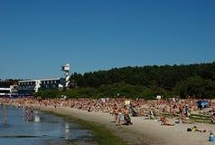 Pirita Strand in Tallinn Stockbild