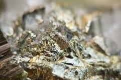 A pirite de ferro, é um sulfureto do ferro com a fórmula química FeS2 Imagem de Stock