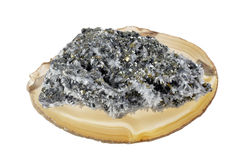 Pirite e cristalli minerali Fotografia Stock Libera da Diritti