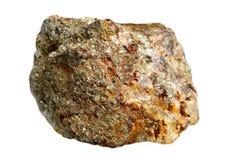 Pirites minerais no quartzo fotografia de stock royalty free