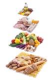 Pirámide de alimento Imágenes de archivo libres de regalías