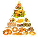Pirâmide de alimento - lotes dos artigos Fotos de Stock Royalty Free