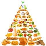Pirâmide de alimento - lotes dos artigos Imagens de Stock