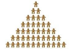 Pirámide de clases sociales Imagen de archivo libre de regalías