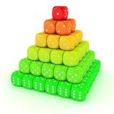 Pirámide de dados Imagen de archivo libre de regalías