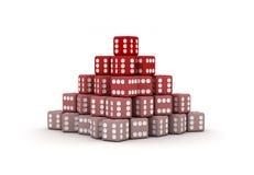 Pirámide de dados Fotografía de archivo libre de regalías