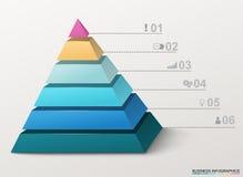 Pirâmide de Infographic com números e ícones do negócio Imagem de Stock