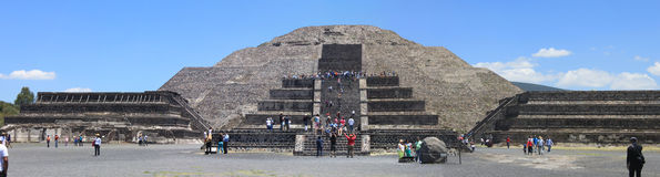 Pirmide del Sol in Teotihuacan Royalty-vrije Stock Foto