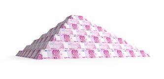 Pirámide euro financiera Imágenes de archivo libres de regalías
