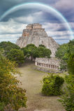 Pirámide uxmal Fotos de archivo libres de regalías