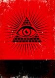 Pirámide y el ojo Fotografía de archivo