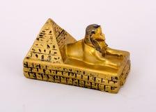 Pirámide y esfinge Fotografía de archivo