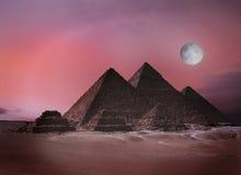 Pirâmides Egipto de Giza Fotos de Stock Royalty Free